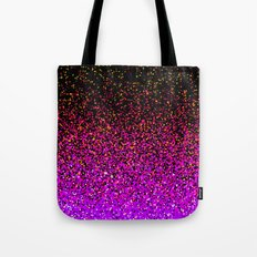 Pink Glitter Sparkle Gradient Tote Bag