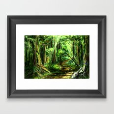 The Great Gaming Forest Framed Art Print