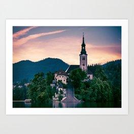 Lake Bled, Slovenia 3 Art Print