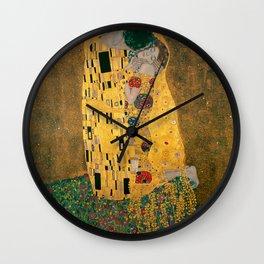 """Gustav Klimt, """" The Kiss """" Wall Clock"""