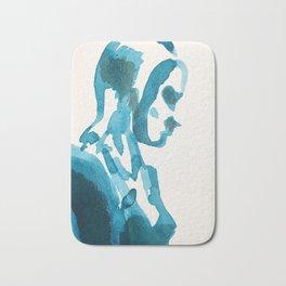 Figure in Blue Bath Mat