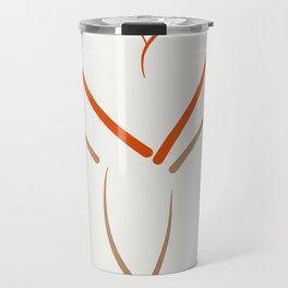 The heart dress. Travel Mug