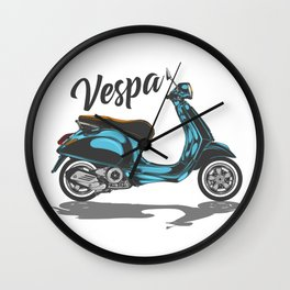 Vespa Scooter Wall Clock