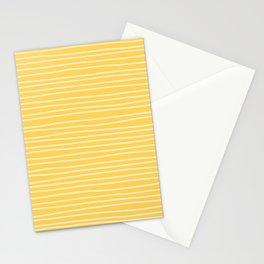 Sunshine Yellow Pinstripes Stationery Cards