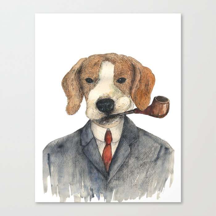 Monsieur Beagle Canvas Print