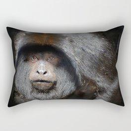Black Howler Monkey Rectangular Pillow