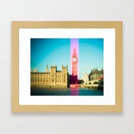 Big Ben Stripe in London Framed Art Print