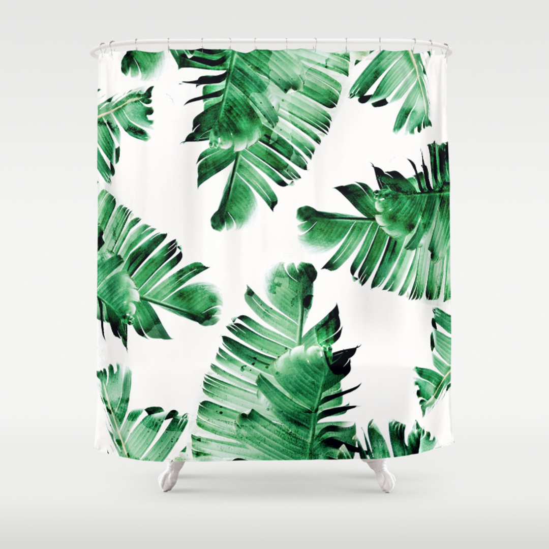 Tropicalleaves Shower Curtains | Society6
