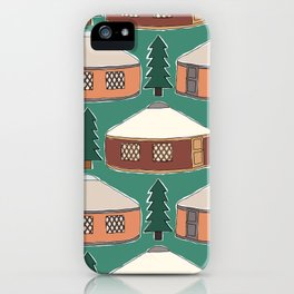 Cozy Yurts -n- Pines iPhone Case