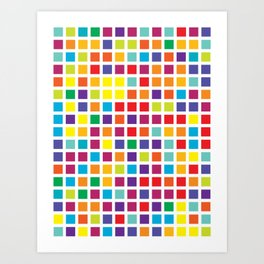 City Blocks - Rainbow #494 Art Print