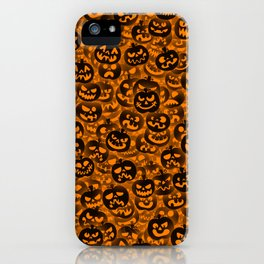Scary pumpkins iPhone Case
