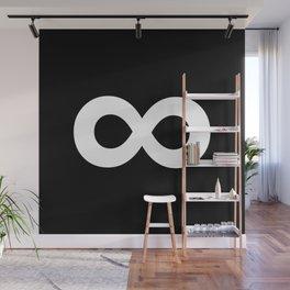 Infinity Symbol (White & Black) Wall Mural