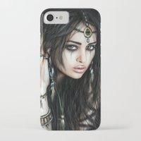 gypsy iPhone & iPod Cases featuring Gypsy by Justin Gedak