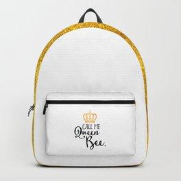 Queen Bee Funny Quote Backpack
