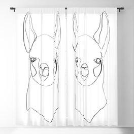 Continuous Llama Blackout Curtain