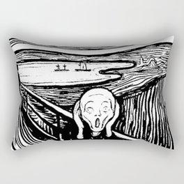 THE SCREAM - EDVARD MUNCH - LITHOGRAPH Rectangular Pillow