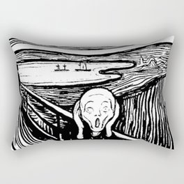 THE SCREAM - EDVARD MUNCH - LITHOGRAPH Rectangular Pillow
