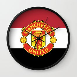 Manchester United Football Club Logo (Stripes) Wall Clock