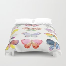 Painted butterflies Duvet Cover