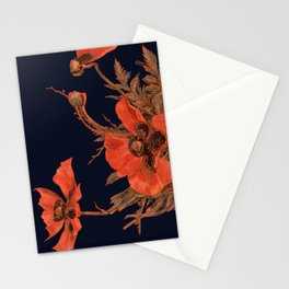 All the Poppies of the Fields Stationery Cards