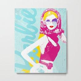 Vacation Barbie (blonde) Metal Print