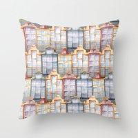 amsterdam Throw Pillows featuring  Amsterdam by Julia Badeeva