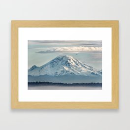 Seattle Mount Rainier Framed Art Print