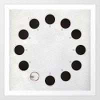 Circle of Coffee Art Print