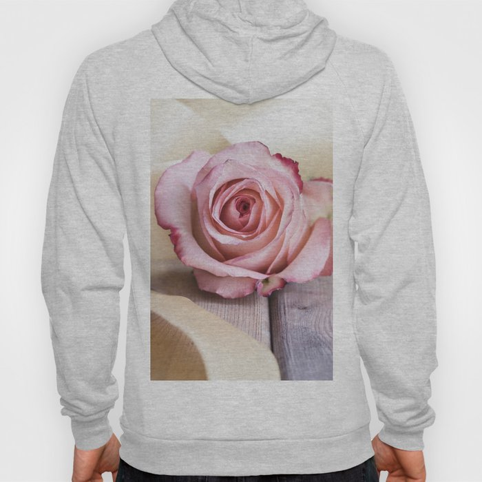 Pink rose and golden ribbon Hoody