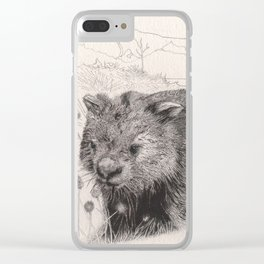 Path to wombat pool Clear iPhone Case