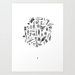 prison tatts Art Print