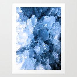 Celestite Blue Art Print