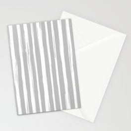 Brushstrokes / pale gray Stationery Cards