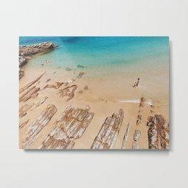 Turquoise Sea Metal Print