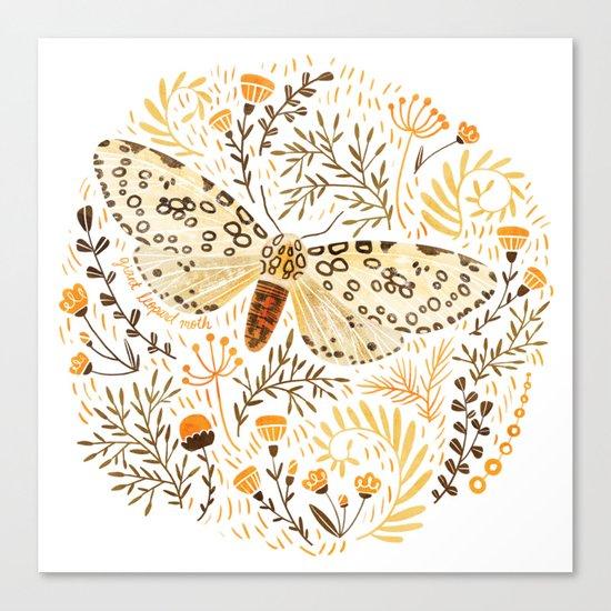 Giant Leopard Moth Canvas Print