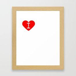 I Heart Chris   Love Chris Framed Art Print