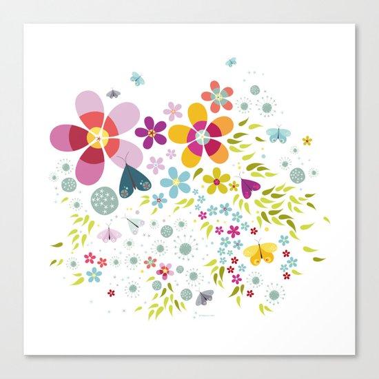 Schmetterlingswiese – Butterfly-Meadow Canvas Print