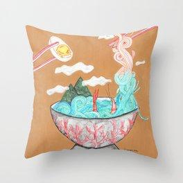 Sea Salt Ramen Throw Pillow