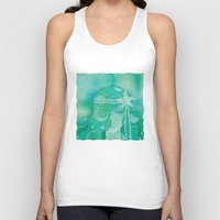 mermaid Tank Tops featuring Ocean Queen by Graphic Tabby