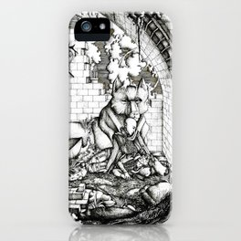 Lovers in the ruins iPhone Case