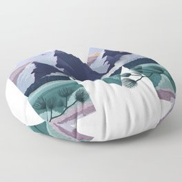 Letter M Illustration by Asia Orlando Floor Pillow
