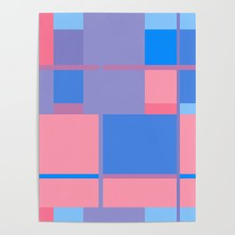 Abstract pattern geometric backgrounds  Poster