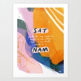 sat nam Art Print