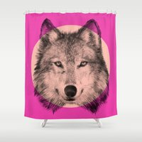 eric fan Shower Curtains featuring Wild 7 - by Eric Fan and Garima Dhawan by Eric Fan