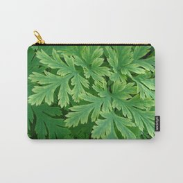Vibrant green leaves Carry-All Pouch