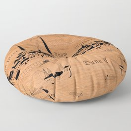 Riga 1544 (mahogany) Floor Pillow