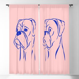 Boxer (Pink and Blue) Blackout Curtain