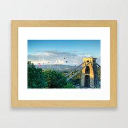 Adrift Over Bristol Framed Art Print