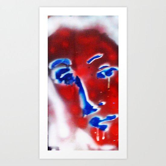 CRYING RED VENUS Art Print