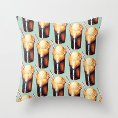 Root Beer Float Pattern Throw Pillow
